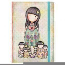 f92f8d7393 Σημειωματάριο με σκληρό εξώφυλλο και λάστιχο Santoro Gorjuss Notebook Seven  Sisters 230EC49